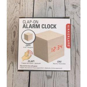 Kikkerland Clap On Alarm Clock Cube